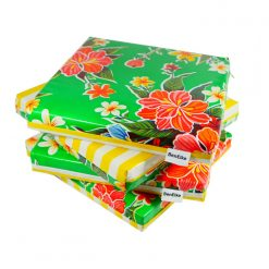 Green Hibiscus Cushion set-sml